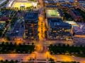 A Vertical Drone Panorama of the Arena District - Columbus, Ohio
