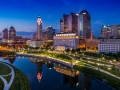 A beautiful drone view of Columbus, Ohio