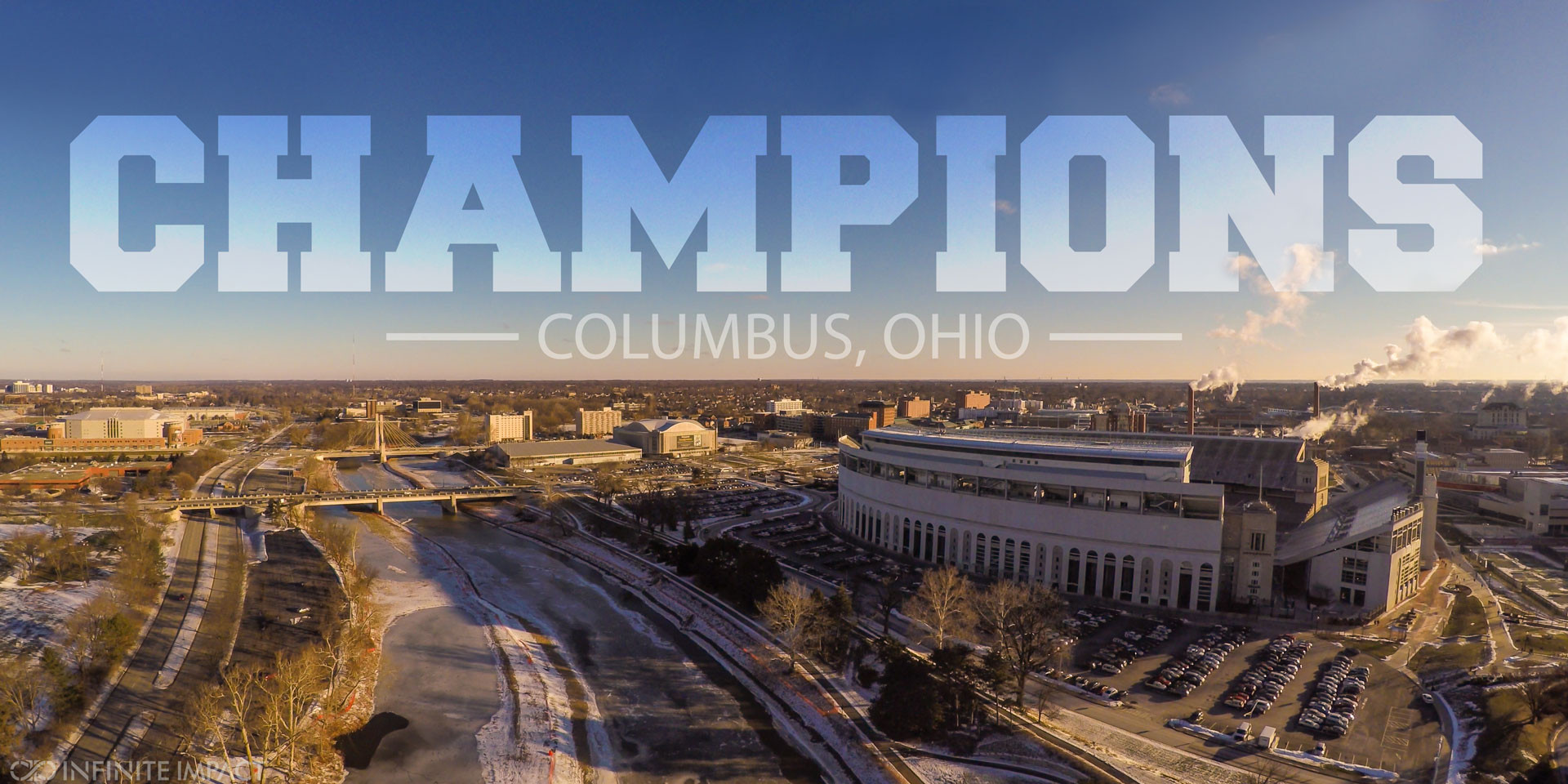 Aerial Photography over Ohio State University